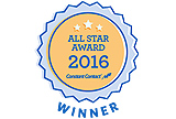 Prince August wins the all star award from Constant Contact 2016