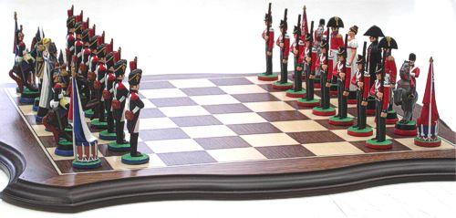 Napoleonic Battle of Waterloo chess set