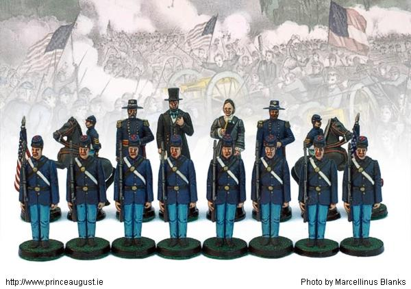 Marcellinus Blanks Gallery Photo of the American Civil War chess set