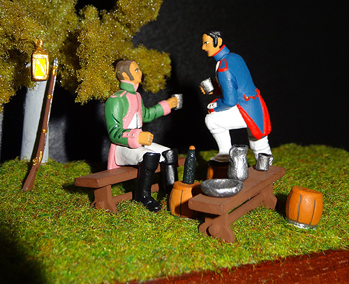 54mm Napoleonic figures from the At Ease series.
