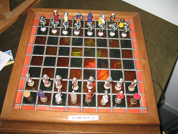 Jean Claude Michel's photograph of crusades chess set