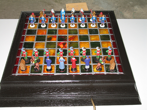 Three Musketeers chess set