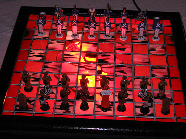 Battle of the Alamo Chess Set