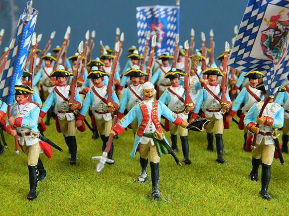 Pat Sexton Conversions of Prussian moulds to Bavarian and Russian Infantry.
