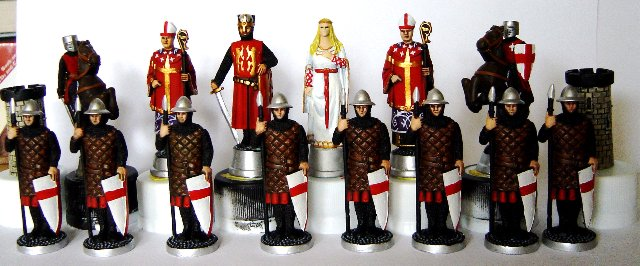 Craig Belon richard the lionheart chess set