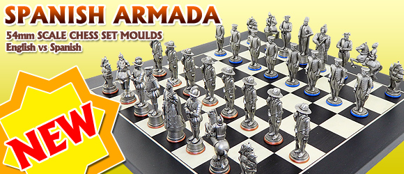 New Spanish Armada 1588 Chess set moulds