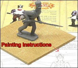 Fig.1 - Figure on board with painting instructions