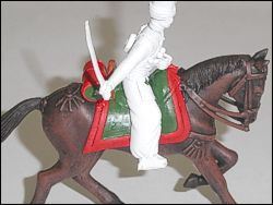 Picture 6 - Add the base paint to the blanket and saddle.