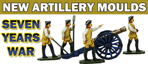 Seven Years War Artillery Release of Prince August Moulds.